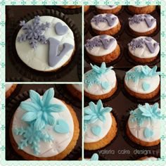 Frozen elsa cupcakes