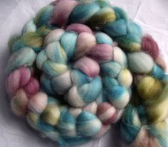 superwash bfl roving 4 oz.  BOUQUET by oceanwindknits on Etsy, $19.00
