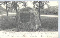 Monument to John Proctor, who was hanged as a witch in Salem 1692, Peabody, MA.