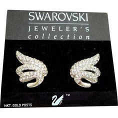 Swarovski Rhinestone Earrings MOC
