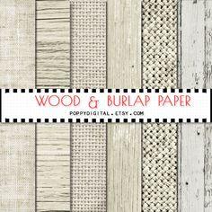 Nude Wood Burlap digital paper  wood background by SvetaNDesign