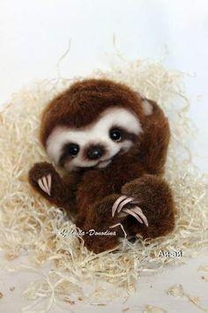 Baby Sloth by Ljudmila Donodina -