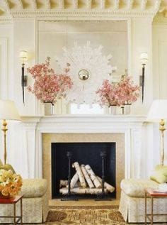 """View this Great Contemporary Living Room by Suzanne Tucker. Discover & browse thousands of other home design ideas on Zillow Digs. Room Design, Decor Design, Mantel Design, Fireplace Design, Living Room Decor, Mantle Decor, Home Decor, House Interior, Interior Design"