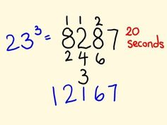 Cube Trick - work out cubic numbers (1 - 100) fast!