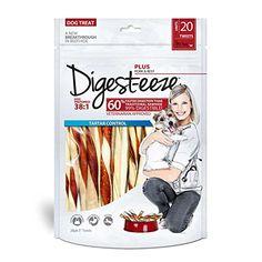 Digesteeze Rawhide Pork  Beef Twists 20 Pack