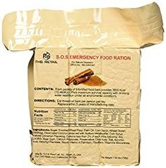 Rations Emergency 3600 Calorie Food Bar - 3 Day / 72 Hour Package with 5 Year Shelf Life Net wt. Best Emergency Food, Emergency Rations, Emergency Food Storage, Emergency Food Supply, Emergency Supplies, Sos Food, Date Nutrition, Food Rations, Survival Food