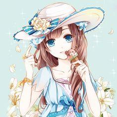 Super Ideas For Fashion Art Girl Hair Manga Kawaii, Manga Anime Girl, Me Anime, Anime Chibi, Anime Love, Anime Girl Dress, Anime Girls, Pretty Anime Girl, Beautiful Anime Girl
