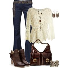 """Can we just pretend it's Fall? This heat is ridiculous, so I am dreaming of cool weather and """"chic"""" outfits like this one!"""