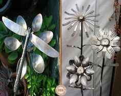 """How clever is this? Old spoons, forks, a couple of knives and a soldering iron, and you can make these garden ornaments. Discover a world full of free opportunities by viewing our """"Recycling"""" album on our site at http://theownerbuildernetwork.co/recycled-and-repurposed/recycled-a-world-of-free-opportunities/ Trash or Treasure? Let us know in the comments section."""