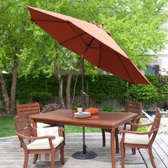 9 Ft Patio Umbrella In Terracotta With Metal Pole And Tilt Mechanism |  Metal Pole, Patio Umbrellas And Terracotta