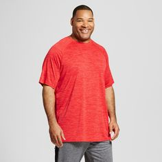 Men's Big & Tall Tech T-Shirt - C9 Champion - Scarlet Heather 5XBT, Size: 5XB Tall