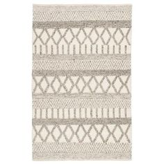 Shop Janson Handmade Geometric Gray/ White Area Rug - x - On Sale - Ships To Canada - Overstock - 11110735 Innovation Living, Rug Runners, House Doctor, White Area Rug, Artisanal, Throw Rugs, Woven Rug, Colorful Rugs, Handmade Rugs