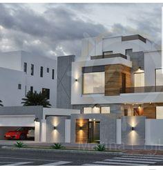 New exterior colors combinations house Ideas Architecture Design, Modern Architecture House, Facade Design, Exterior Design, Exterior Colors, Bungalow House Design, House Front Design, Flat Roof House, Modern Villa Design
