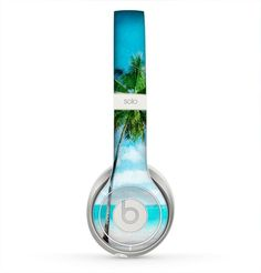 The Paradise Beach Palm Tree Skin for the Beats by Dre Solo 2 Headphones Computer Robot, Cute Headphones, Bluetooth Headphones, Beats Solo Hd, Home Theater Sound System, Beats Pill, Unicorn Fashion, Beats By Dre, Instruments