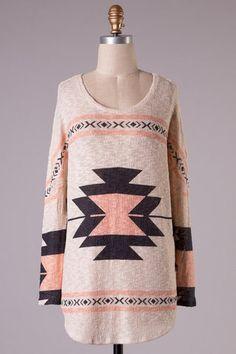 Aztec Tunic Top