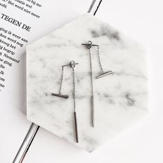 Close up to our sterling silver Threader-look Earrings  Can also wear as the real threader Discover how on http://www.#thingseyelove.com  Shop link in bio