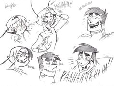 draw your characters laughing, it makes you smile!