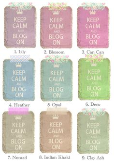 *Cute n Cool* Blog Stuff  http://blo64rt.blogspot.com/2012/08/keep-calm-shabby-and-choose-your-color.html