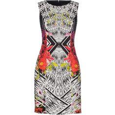Class Roberto Cavalli Short Dress (5,455 MXN) ❤ liked on Polyvore featuring dresses, black, black pocket dress, black mini dress, black sleeveless dress, kohl dresses and short dresses
