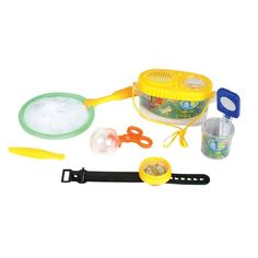 Adventure Kids Bug Catcher Box Set. This wonderful insect bug collection set is so much fun for children. They can capture bugs and view them to see what they really look like. It is complete with 6 pieces and is great as a gift for anyone.