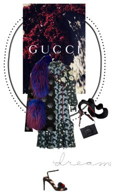 """""""Vintage Touch"""" by vilen ❤ liked on Polyvore featuring Fendi, Gucci, Erdem, Matthew Williamson, WALL, vintage, floralprint, trend and mididress"""