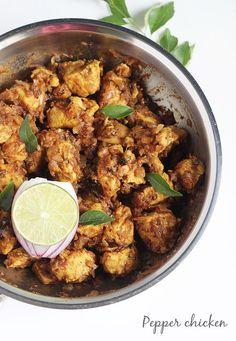 LUNCH / DINNER: pepper chicken recipe