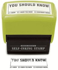 You Should Know Stamp