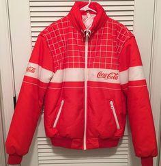 *Mens Vintage Coca-Cola Coke Racing Pit Crew Full Zip Bomber Jacket Italy LARGE* #CocaCola #BasicJacket
