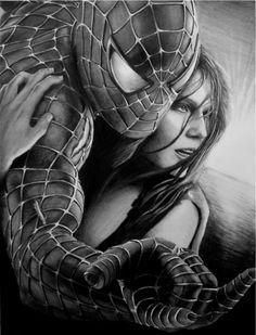 Top 10 Favorite Pencil Drawings, Spiderman