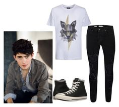 """""""Ryan Hollen"""" by coffeeismysoul ❤ liked on Polyvore featuring Kloters Milano, Topman and Converse"""