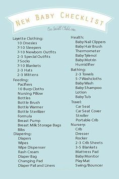 New Baby Nursery Checklist  Newborn Essentials  Bub Hub  Bebes