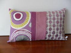 Housse de coussin Bohème en violet : Textiles et tapis par michka-feemainpassionnement