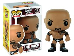 WWE's The Rock has been given the Pop! Vinyl treatment with this WWE The Rock Pop! Vinyl Figure! The blockbuster actor and pro wrestling living legend looks true to form with his black knee and elbow