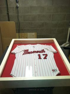 College Jersey Shadow Box - by hammy21 @ LumberJocks.com ~ woodworking community