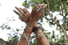 Bohemian Jewelry | bracelets jewelry hippie boho hands ring hand nature silver bohemian ...