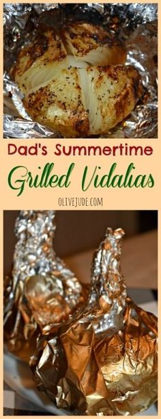 Dad's Summertime Grilled Vidalias Vegetable Dishes, Vegetable Recipes, Vegetarian Recipes, Side Dish Recipes, Dinner Recipes, Side Dishes, Dinner Ideas, Grilling Recipes, Cooking Recipes