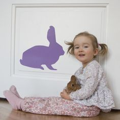 wall rabbit - wall decal design by lepeeto
