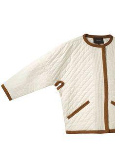 Quilted Jacket, Knit Jacket, Childrens Coats, Russian Fashion, Jacket Pattern, Office Fashion, Minimal Fashion, Dame, Baby Girl Fashion