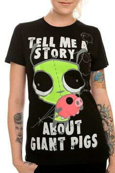 Invader Zim Gir Giant Pigs Tee Size : Small