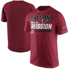 new concept 1ad95 4af96 Atlanta Falcons Nike Super Bowl LI Bound On a Mission T-Shirt - Red
