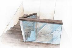 interior projeсt by Sergey Tretuak, via Behance