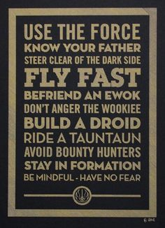 Life's little rules, Star Wars edition.