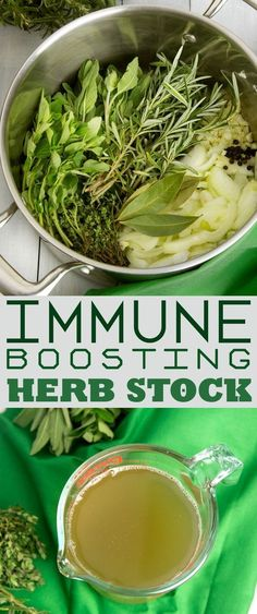 Immune Boosting Garden Herb Stock Make this Garden Herb Stock for a flavourful meal base with the extra benefits of antibacterial anti-inflammatory and immune boosting actions. The post Immune Boosting Garden Herb Stock appeared first on Gardening. Soup Recipes, Vegan Recipes, Cooking Recipes, Dishes Recipes, Healthy Drinks, Healthy Tips, Healthy Detox, Healthy Soup, Eat Healthy