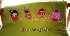 ♥♥♥ E cá estão as minhas meninas, todas juntinhas, misturando culturas, saberes e sabores! by sweetfelt \ ideias em feltro, via Flickr