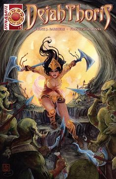 Dejah Thoris Dynamite 3 by Renaut Comic Book Pages, Comic Book Covers, Comic Book Characters, Comic Books, Fiction Novels, Pulp Fiction, Science Fiction, Black Comics, Bd Comics