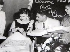 Patsy Cline and her husband, Charlie Dick. On their wedding day.