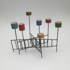 Jay Kelly Untitled #418 2015 Metal, wood, gesso, acrylic. 5.5 x 6.5 x 4 inches. #art #sculpture #smallsculptures