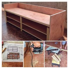 Project wooden sofa/shoe cabinet almost done  i did the design and my uncle did the carpentry.  #DIY #sofa #shoerack