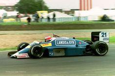 1987 GP Wielkiej Brytanii (Silverstone) Osella FA1I - Alfa Romeo (Alex Caffi)