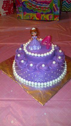 Sofia the First Birthday Cake Sofia The First Birthday Cake, Pink And Gold Birthday Party, Third Birthday, 4th Birthday Parties, Birthday Fun, Birthday Ideas, Princess Sofia Party, Princess Birthday, Princess Cakes